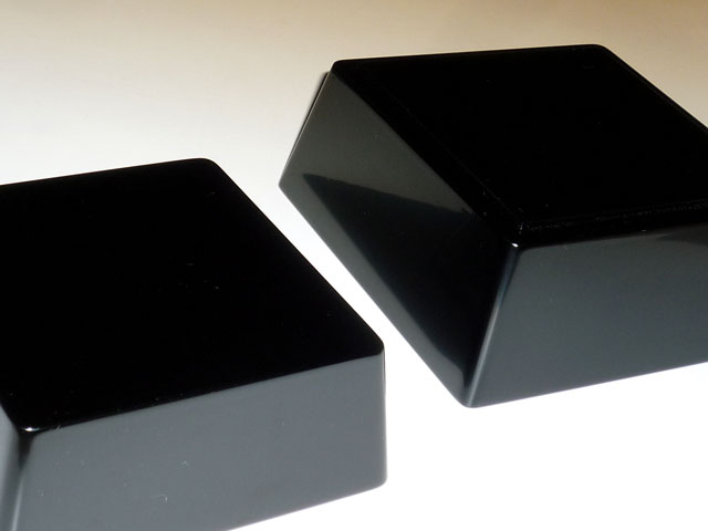 輪島漆塗り 二段入れ子重箱 黒