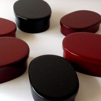 輪島漆塗り 二段お弁当箱 & お重箱