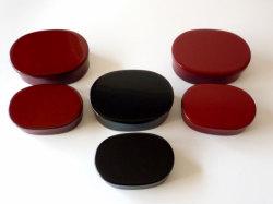 輪島漆塗り 二段お弁当箱 赤・黒・うるみ三色
